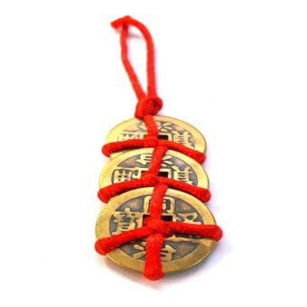 Be Lucky Charms Feng Shui Wealth Catcher Three I-Ching Coins - 2