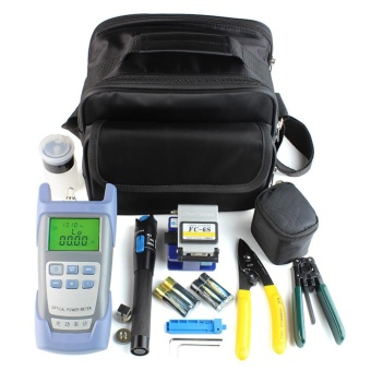 Beau Fiber Optic Ftth Tool Kit With Fc-6S Fiber Cleaver And Optical Power Meter 5Km Black & Blue - intl
