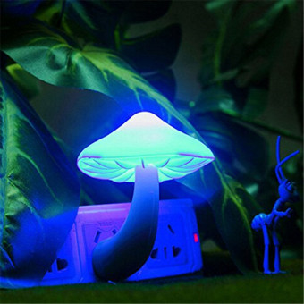 Beauty Night Light Lava Lamps LED Small Portable Mushroom Lamp Bedside Wall Color:Blue