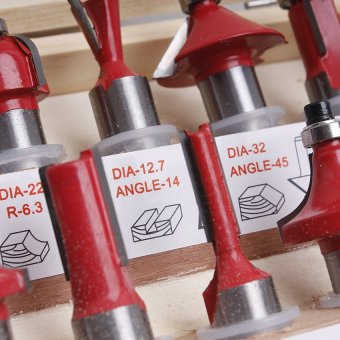 Beblos Mod 3612 Router with Bullet Set of 12 (Red) - 3