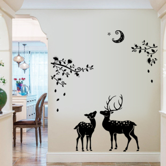Bedroom living room glass toilet Free stickers wall stickers