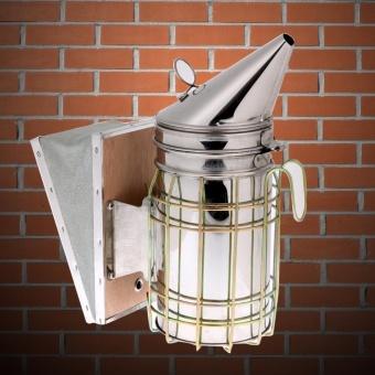 Bee Hive Smoker Stainless Steel w/ Heat Shield ProtectionBeekeeping Tool - intl - 4