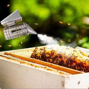 Bee Hive Smoker Stainless Steel w/ Heat Shield ProtectionBeekeeping Tool - intl - 2