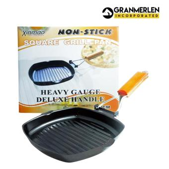 Best Selling Cookware Non-Stick Square Grill Pan 20*cm with Heavy Gauge Deluxe Handle (Brown/Black)