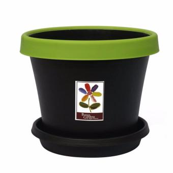 Better Garden CM 8258 Flower Pot (Medium) (Black)