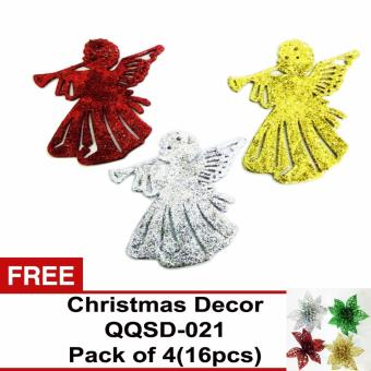 Beverly's Christmas Tree Decorations Pack of 4 (QQSD-24) with FreeChristmas Decor Pack of 4 ( QQSD-21)