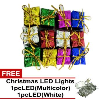 Beverly's Christmas Tree Decorations Pack of 5 ( QQSD-02 ) withFree 2 pcs LED Christmas Light ( White & Multicolor )