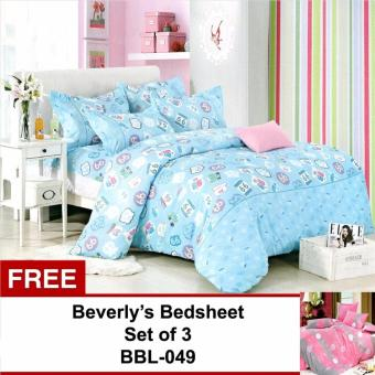 Beverly's Linen Collection Bedsheet Set of 3(BBL-077)Double withFree Beverly's Linen Collection Bedsheet Set of 3(BBL-049)Double