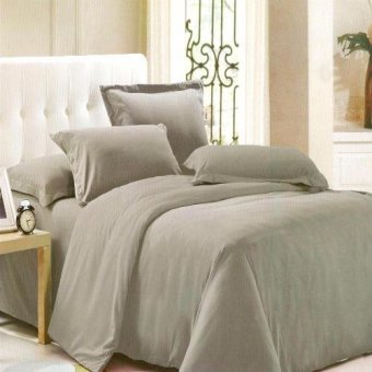 Beverly's Linen Collection Solid Plain Bedsheet Set of 3(Grey)Queen