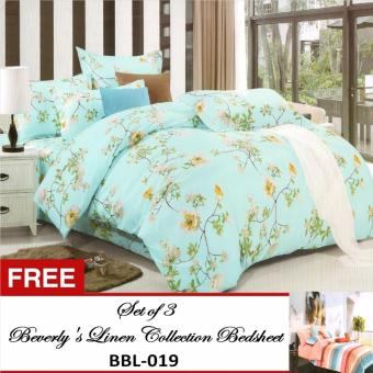 Beverly's Special Linen Collection Set of 3 Bedsheet(BBL-004)Kingwith Free Beverly's Special Linen Collection Set of 3Bedsheet(BBL-019)King