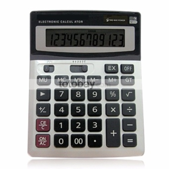 BIG Display 12-DIGIT Electronic Calculator (SILVER/BLACK)