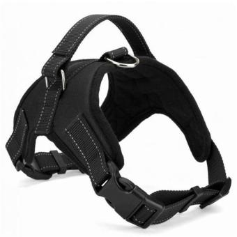 Big Dog Soft Harness Adjustable Pet Dog Big Exit Harness VestCollar Strap for Small and Large Dogs Pitbulls - Black(XL) - intl