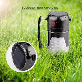 BIG Solar Rechargeable Super Bright Lantern Collapsible LED Camping2-in-1 Emergency Lamp and Flashlight with built-in USB Charger forMobile Phones