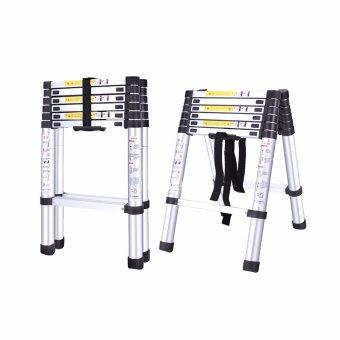 B.I.T. 2m Multi-Functional Telescopic Extension Aluminum 2+2 Ladder (Silver) - 4