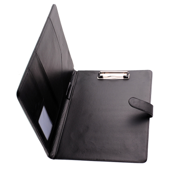 Black Business A4 Executive Conference Folder Portfolio Clipboard PU Leather