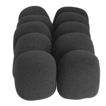black microphone grill foam cover audio mic shield sponge cap holder lazada ph. Black Bedroom Furniture Sets. Home Design Ideas