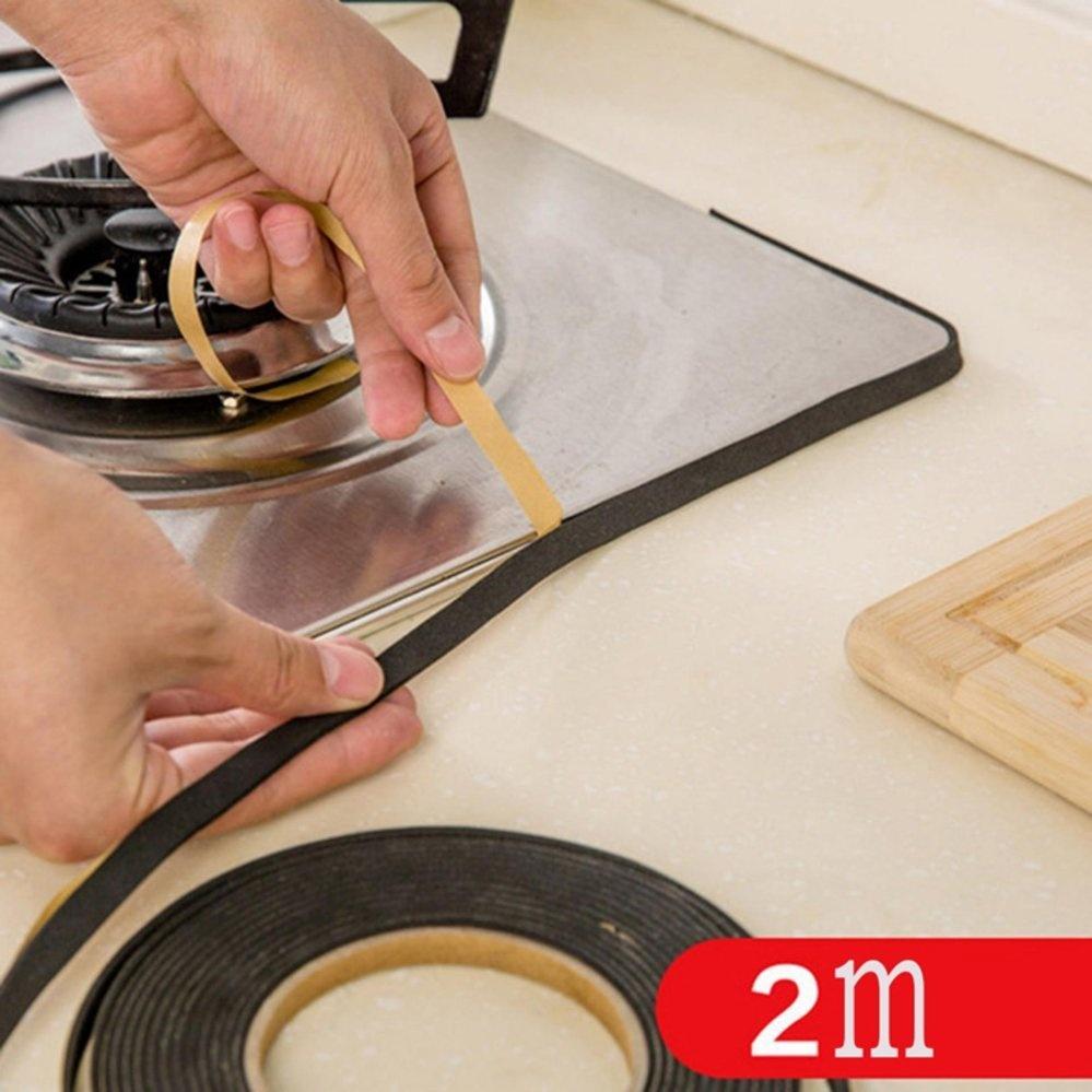 ... Black Windows Kitchen Antifouling Collision Gas Stove WaterproofSealing Strip Tape - intl ...