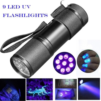 Blacklight Detection 9 LED UV Ultra Violet Mini Flashlight TorchLight Lamp - intl
