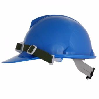 Blue Eagle Construction Safety Helmet / Hard Hat for HeadProtection with FREE CHINSTRAP INCLUDED (Blue)