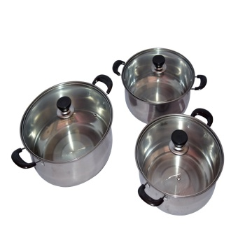 bluecat 22-24-26CM 3IN1 Stock Pot (Silver) Price Philippines