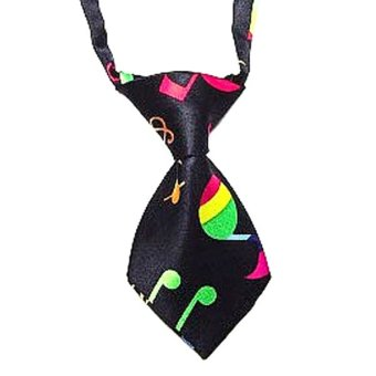 Bluelans Adjustable Pet Grooming Necktie (Black)