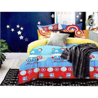 BM 5D US Cotton 5in1 Bedding set Character Design Single SizeDouble Size Queen Size