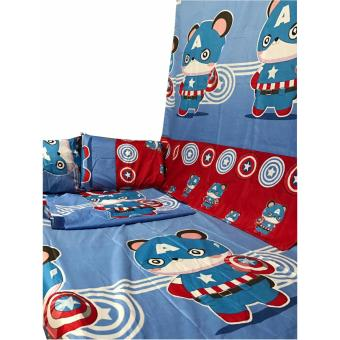 BM 5D US Cotton 5in1 Bedding set Character Design Single SizeDouble Size Queen Size - 2