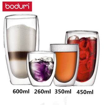 Bodum heat-resistant round double layer glass cup