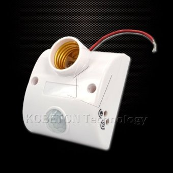 Body Infrared IR Sensor LED Bulb Light E27 Base Automatic PIRMotion Detector Wall Lamp 80W E27 Holder Socket - 4