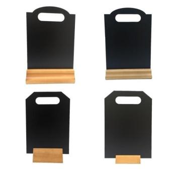 BolehDeals A4 Table Top Blackboard & Stand Menu Display Chalk Board Portrait 15x21CM B - intl - 3