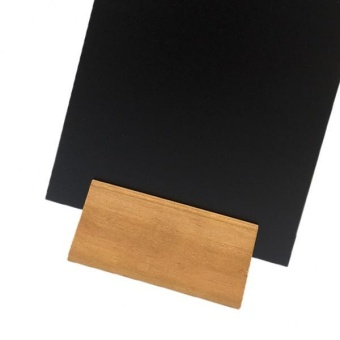 BolehDeals A4 Table Top Blackboard & Stand Menu Display Chalk Board Portrait 15x21CM B - intl - 5