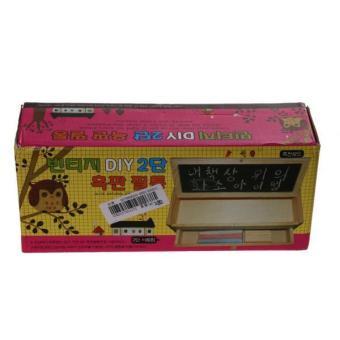 BolehDeals Multi-function Wooden Vintage Writing Case Pencil Box Pen Organizer Kid Gift - intl - 3