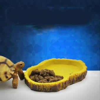 BolehDeals Reptile Feeding Bowl Food Water Resin Dish Pet VivariumTortoise Gecko Snake - intl - 3