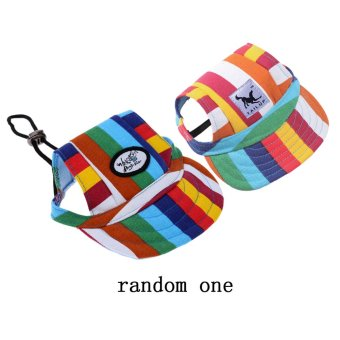 BolehDeals Small Pet Dog Cat Kitten Rainbow Baseball Hat Strap CapSunbonnet S