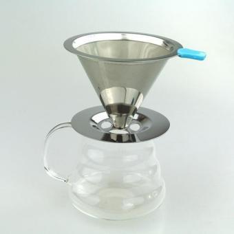 BolehDeals Stainless Pour Over Drip Mesh Coffee Tea Cone Filter Holder Maker #2 90mm - intl - 4