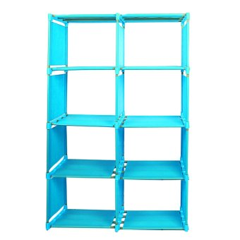 Bookcase Home Furniture Adjustable Bookcase Storage Bookshelf with8Book Shelves