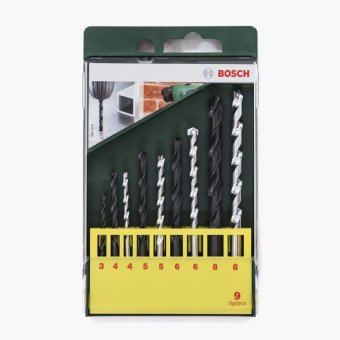 Bosch 9-piece Multi-purpose Drill Bit Set