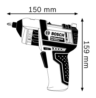 Bosch GSR BitDrive Professional Cordless Screwdriver with FREE BOSCH RN SHIRT WHITE (M size) - 3