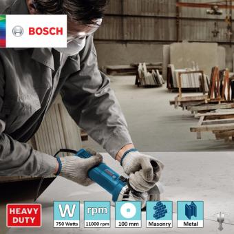 Bosch GWS 750-100 Professional Angle Grinder with Bonded Abrasive & Carbon Brush Set Power Tool - 5