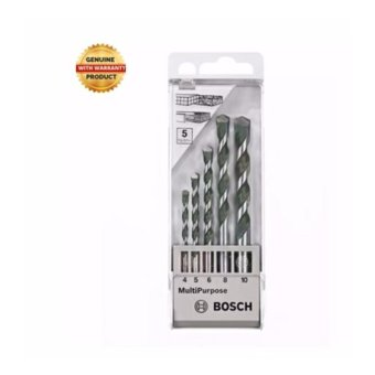 Bosch Multi Purpose Drill Bit (Set) 5pcs.-4,5,6,8,10 mm