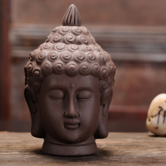Boutique handmade small Buddha head tea ceremony clay tea pet