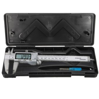 Box For 6'' Stainless Steel Electronic Digital Vernier Caliper Micrometer Guage - intl