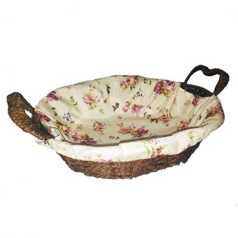 Bread/Fruit Basket with Floral Fabric