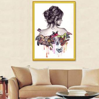 Butterfly Beauty Girl 5D Diamond DIY Painting Craft Kit Home Decor - intl
