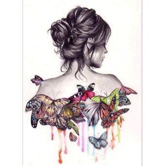 Butterfly Beauty Girl 5D Diamond DIY Painting Craft Kit Home Decor- intl