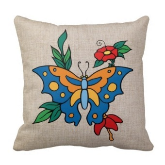 Butterfly One Side Printing Pillow Case Cover