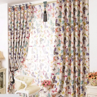 Butterfly Window Curtains for Living room Bedroom Kids ModernBlackout Curtain Window Drapes Home Decoration - intl