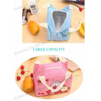 Buy 1 FREE 1 Korean Home Style LB-002 Portable Lunch Bags AnimalCartoon Printed Ice Bag Hand Carry Bag - 2