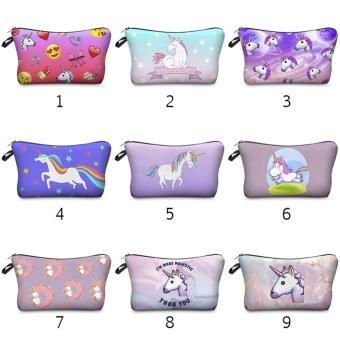 BUYINCOINS Unicorn Pattern Storage Bag Idea Pencil Case CosmeticTravel Birthday Study Gift #07 - intl - 2
