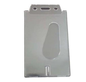 Buytra Card Holder Vertical Transparent Hard Plastic 2 Pcs - picture 2